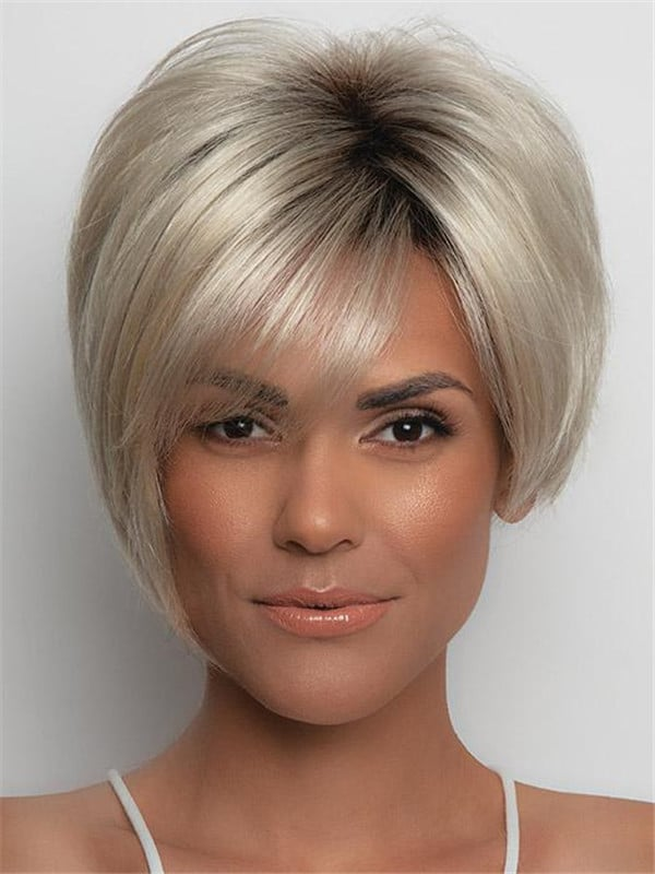 Gray Susanne Synthetic Wig Basic Cap
