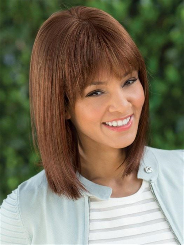 Red And Blonde Tatum Synthetic Wig Mid-length For Women