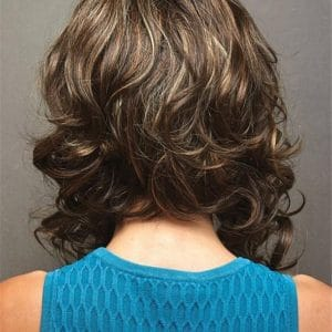 Curly Blonde Tessa Synthetic Wig Rooted For Women