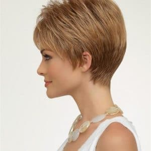 Gray Tiffany Petite Synthetic Wig Mono Top