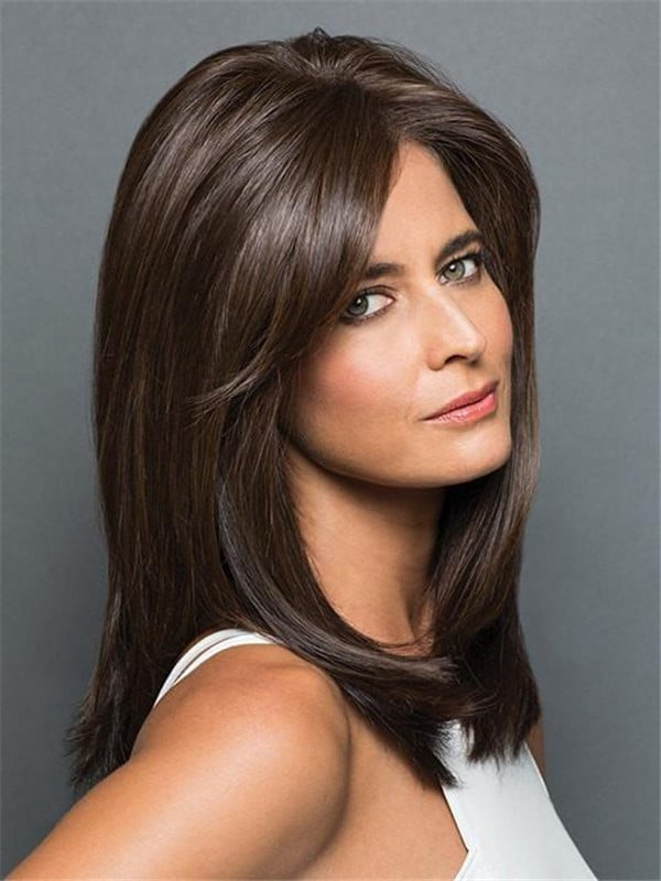 Rooted Synthetic Lace Front Hair Topper Half