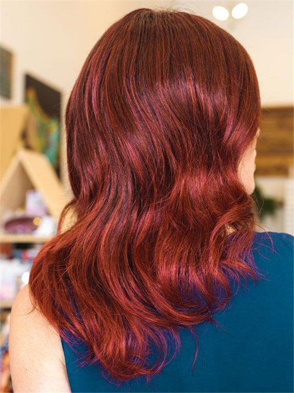Red And Black Curly Touch Synthetic Lace Front Wig For Women