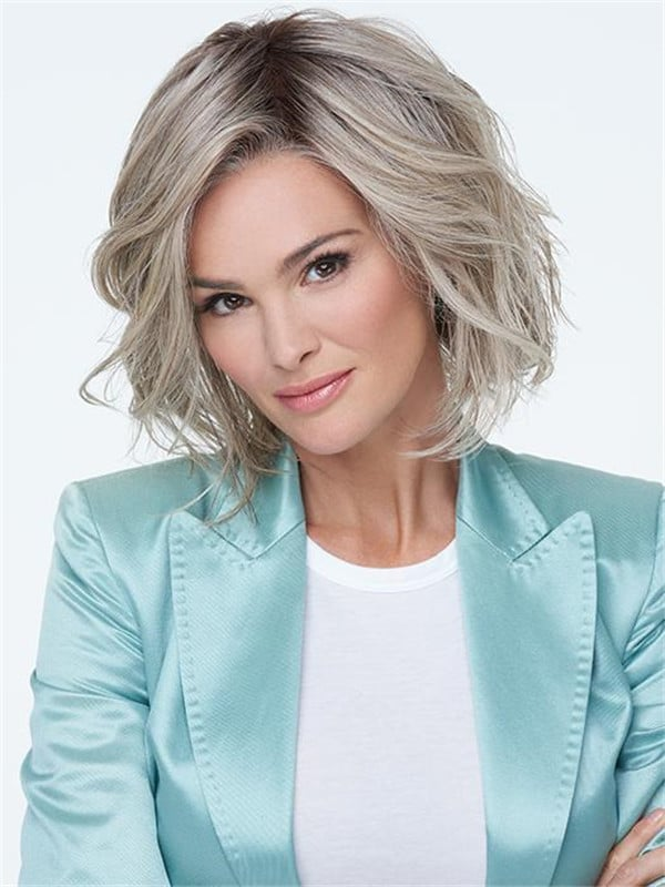 Blonde Monofilament Synthetic Lace Front Wig Mono Top