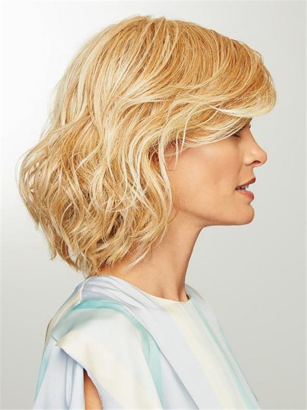 Blonde Abd Black Synthetic Wig Basic Cap Curly For Women