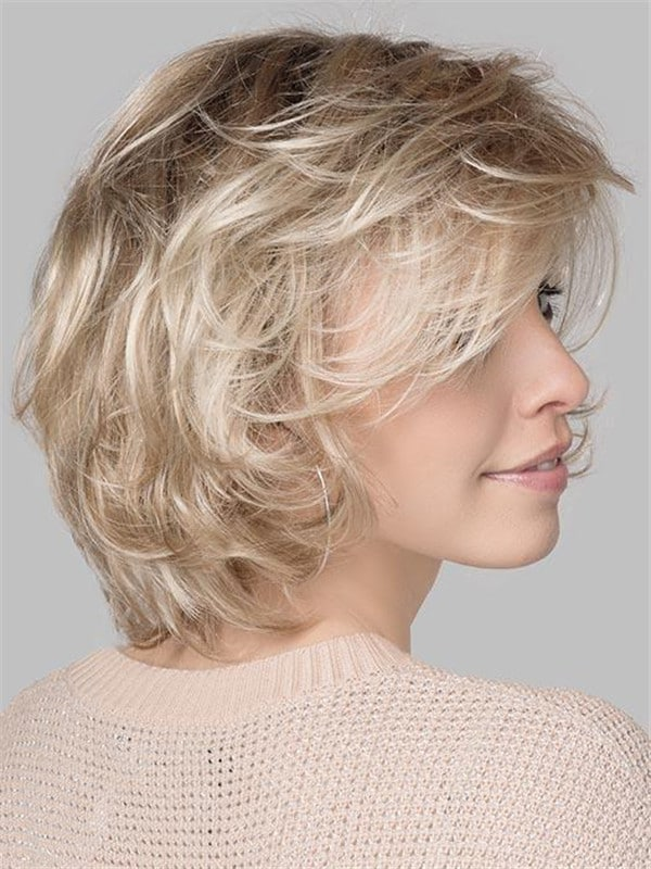 Blonde Curly Synthetic Lace Front Wig Monofilament