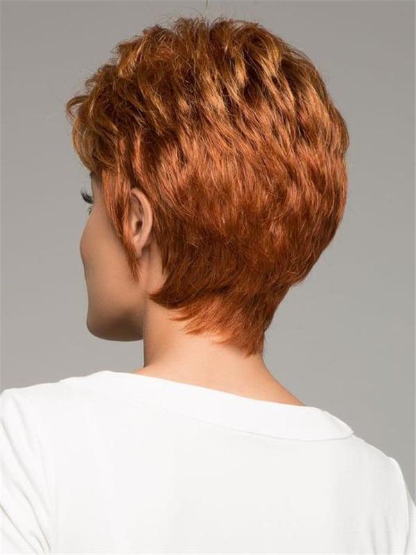 Black Pixie Short Synthetic Wig Basic Cap