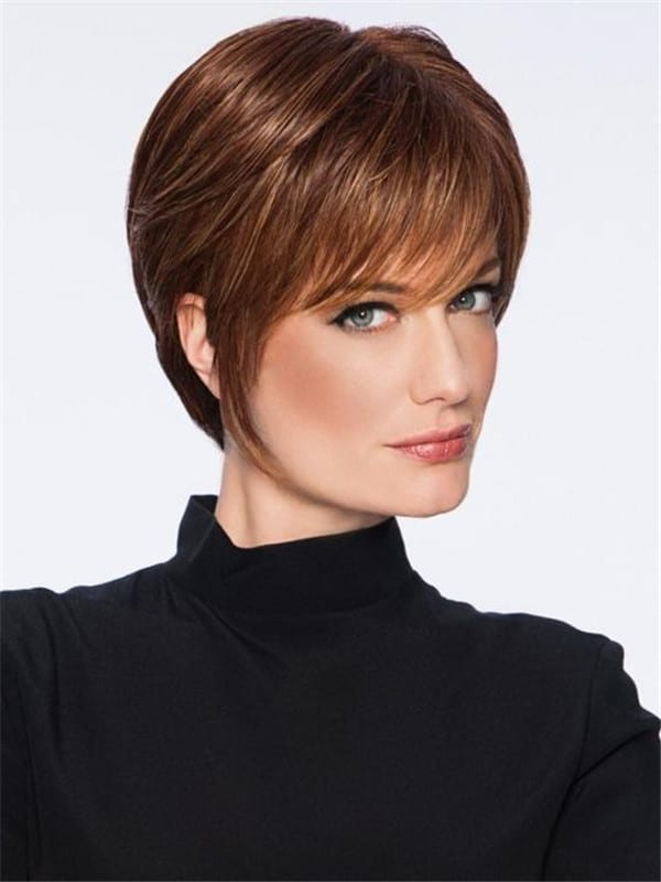 Black And Blonde Synthetic Wig Basic Cap For Women