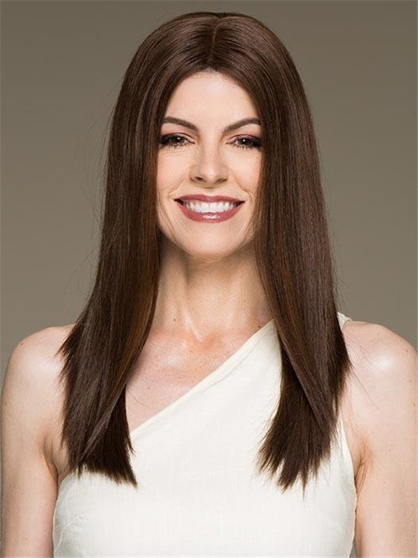 Blonde And Black Xenita Human Hair Lace Front Wig Monofilament