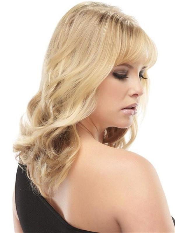 Black And Blond Easivolume Human Hair Volumizer Clip In