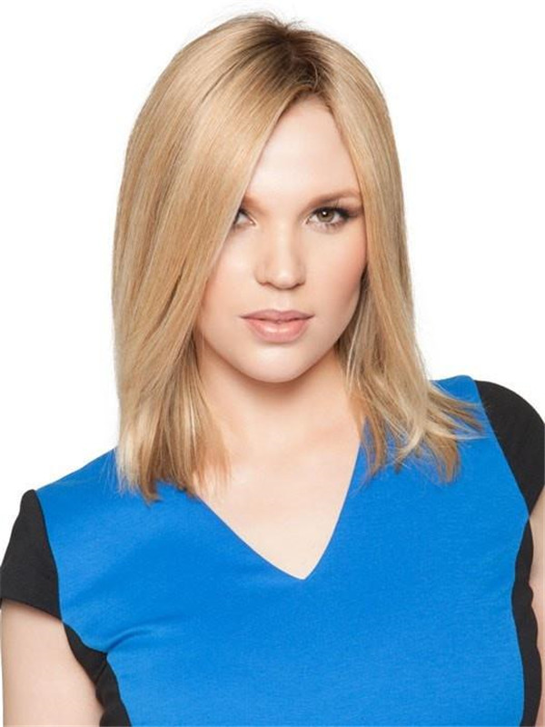 Brown And Blond Top Remy Human Hair Topper All Hairpieces
