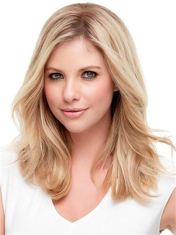 Blond Top Style Renau Exclusive Human Hair Topper Half