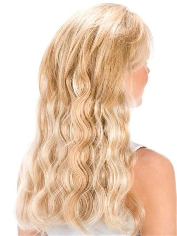 """Blond 14"""" Och French Curl Human Hair Extensions"""