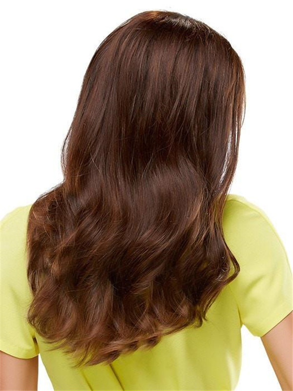 Blond And Brown Form Exclusive Colors Human Hair Topper Half