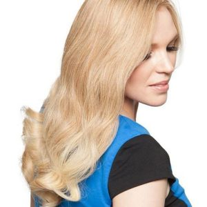 "black and blond 18"" Top Form Human Hair Topper Half"