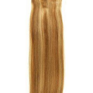 Black And Blond Och Silky Straight Human Hair Extension