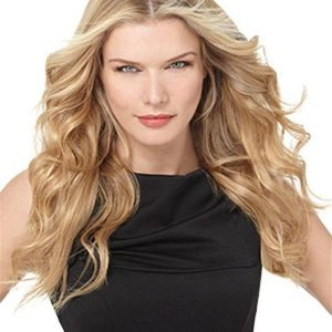 Blond And Red Remy Human Hair Extensions Kit Clip In