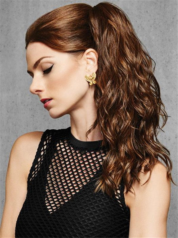 Blond Curly Claw Clip Synthetic Ponytail All Hairpieces