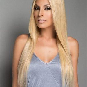 Black And Blond Easixtend Elite Human Hair Extensions Clip In