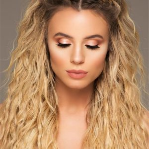 Blond And Brown Human Hair Extensions Kit Clip In
