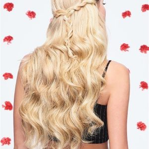 Black And Blond Invisible Synthetic Hair Extensions