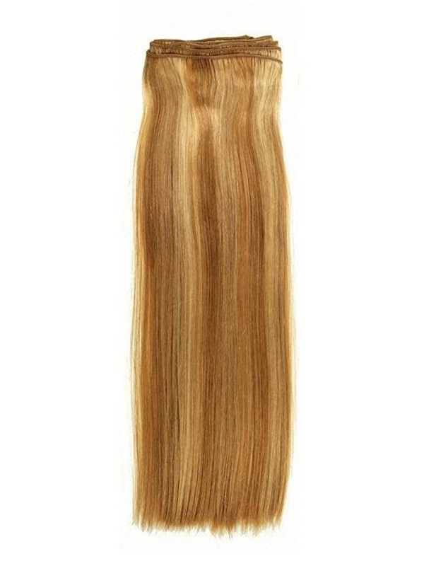 Blond And Brown Och Silky Straight Human Hair Extensions