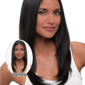Blond And Brown Straight Hf Synthetic Hair Extension Clip In