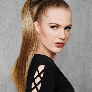Blond And Brown Straight Synthetic Ponytail All Hairpieces
