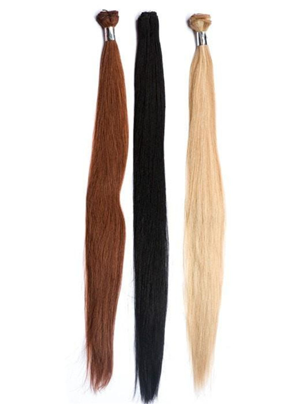 Black And Blond Italian Straight Human Hair Extensions