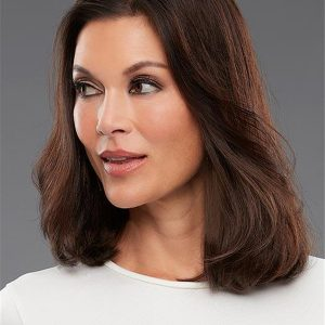 Brown Easipieces Remy Human Hair Piece Rooted