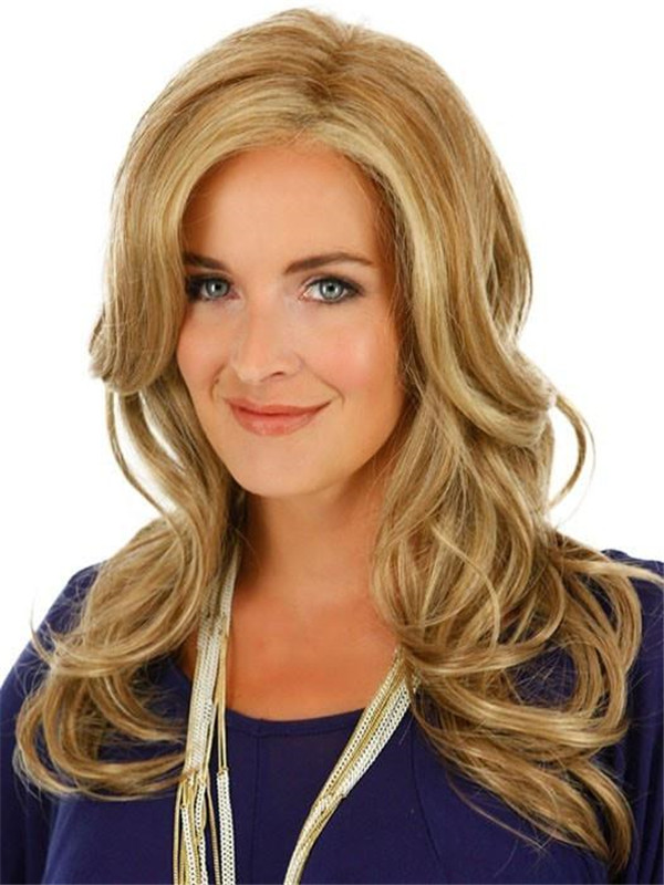 Blonde And Red Adriana Synthetic Lace Front Wig