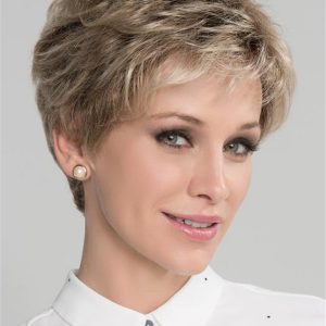 Gray And Blonde Synthetic Lace Front Wig For Women