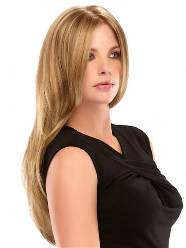 Blonde And Red Amanda Synthetic Wig Mono Top For Women