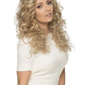 Blond And Brown Anemone Synthetic Half Wig Half