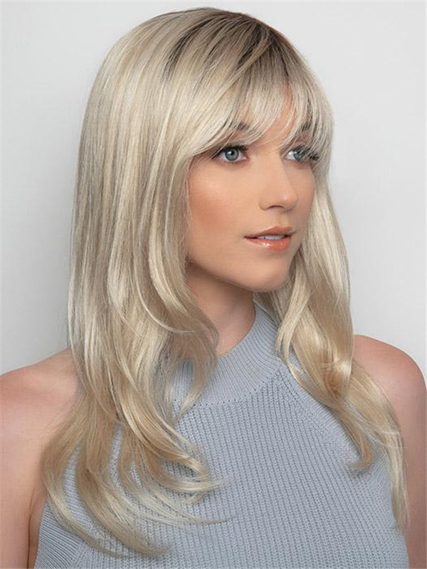 Blonde Angela Synthetic Wig Rooted For Women