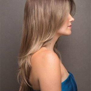 Angelica Synthetic Wig Basic Cap Rooted For Women