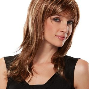 Black And Blondeangelique Synthetic Wig Basic Cap