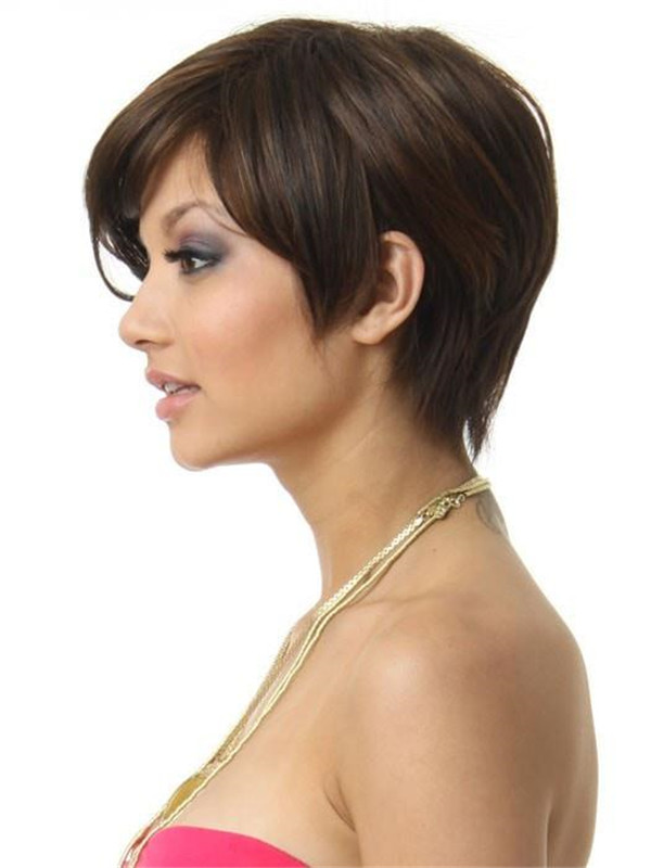 Blonde And Red Angled Synthetic Wig Basic Cap For Women
