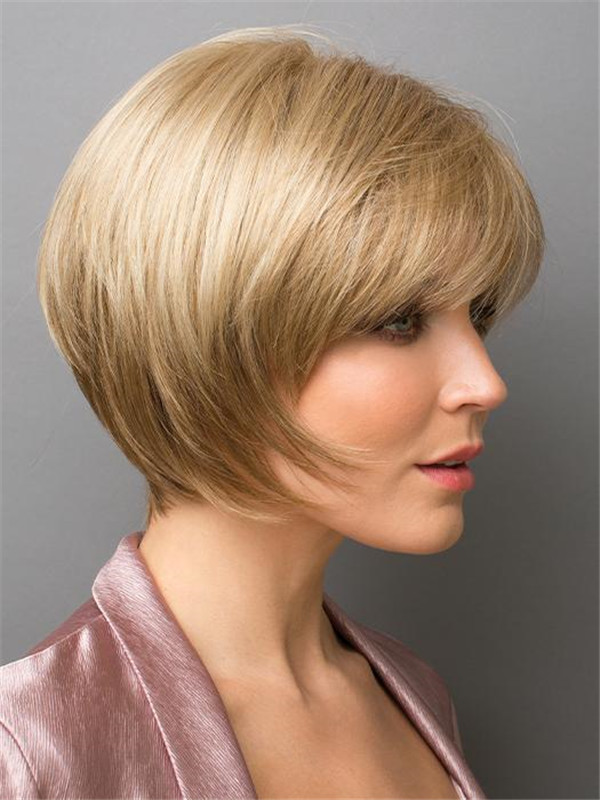 Gray And Red Audrey Synthetic Wig Basic Cap For Women