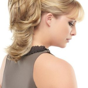 Black And Blond Synthetic Ponytail Clip In All Hairpieces