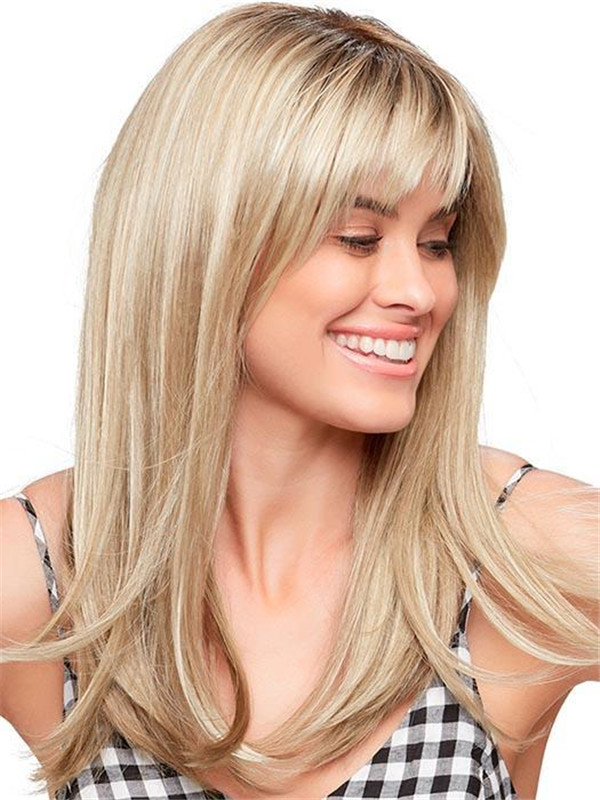Black And Blonde Camilla Synthetic Wig Rooted For Women