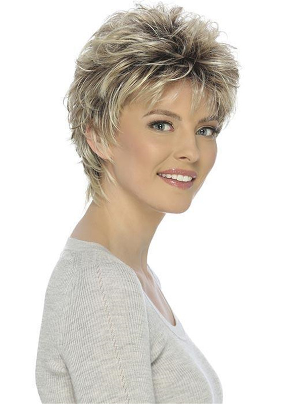 Black And Blonde Christa Synthetic Wig Basic Cap For Women