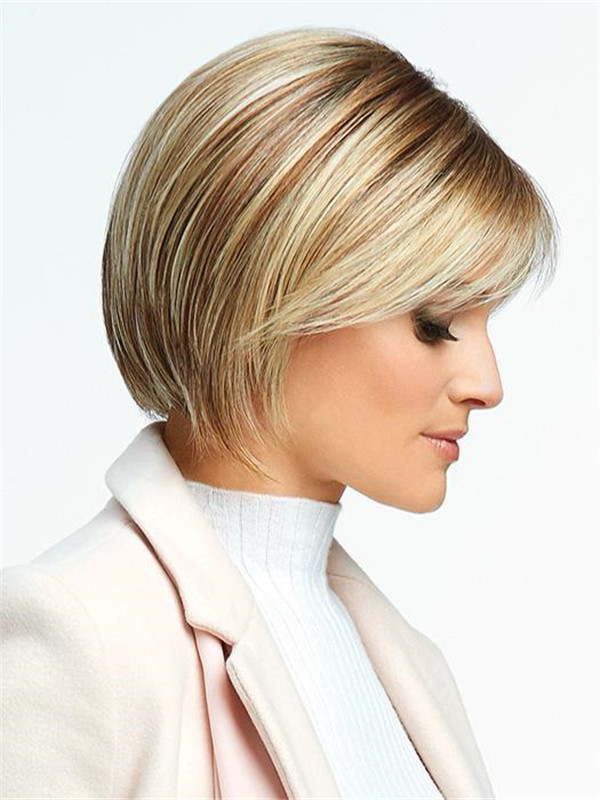 Mid-length Classic Synthetic Lace Front Wig For Women