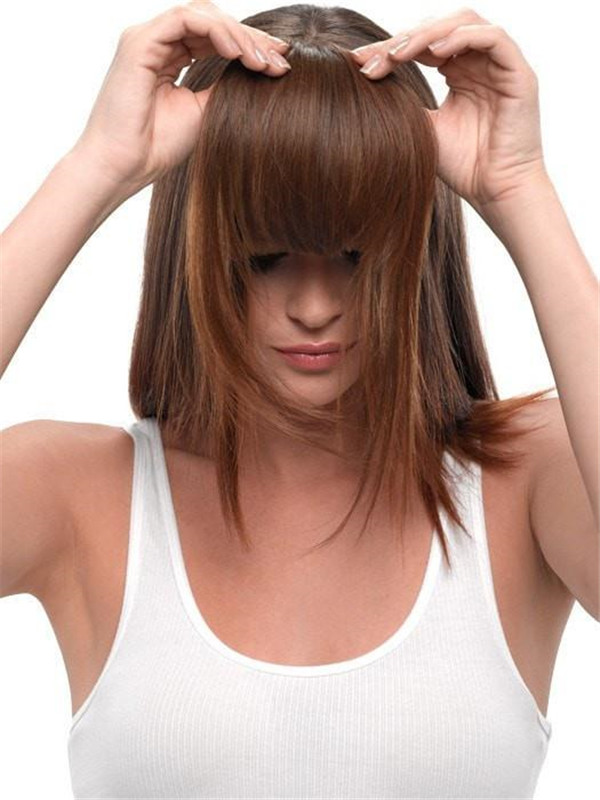 Blond Clip In Bangs Synthetic Bang Clip In Fringes