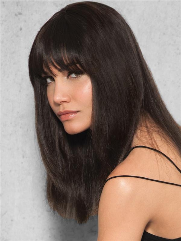 Blond Clip Human Hair Bang Human Hair Clip In Fringes