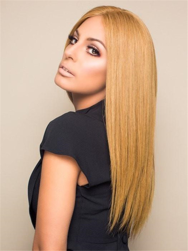 Blonde Contessa Human Hair Lace Front Wig Monofilament
