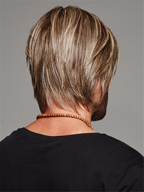 Layered Daring Synthetic Lace Front Wig For Men