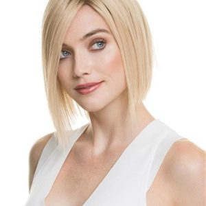 Blonde Delicate Human Hair Lace Front Wig For Women