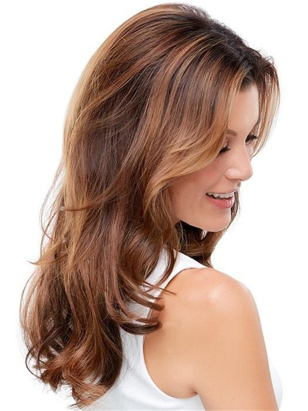 Blond And Brown Easicrown Synthetic Hair Topper Rooted Half
