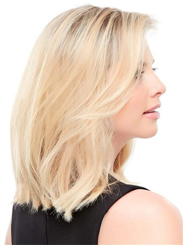 Blond And Brown Easicrown Human Hair Top Piece Half