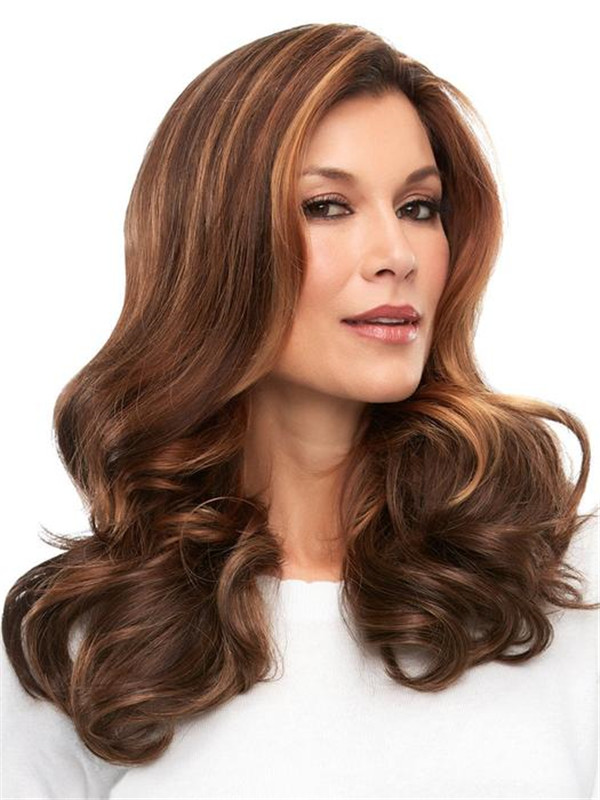 Brown Easipart French Remy Human Hair Topper Half